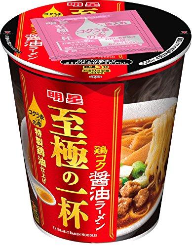 明星至極の一杯鶏コク醤油ラーメン66g×12個