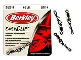 Berkley Mc Mahon Easy Clip Snap-Swivels, Wirbel mit Schnellverschluss-Clip in Vier Größen, Tragkraft von 30lb bis 80lb (Größe 5-80lb - Inhalt 4 Stück)