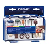 Dremel 687-01 52-Piece All-Purpose Rotary Tool Accessory Kit- Includes a Carving Bit, Sanding Drums, Grinding Stones, Cutting Discs, and a Storage Case