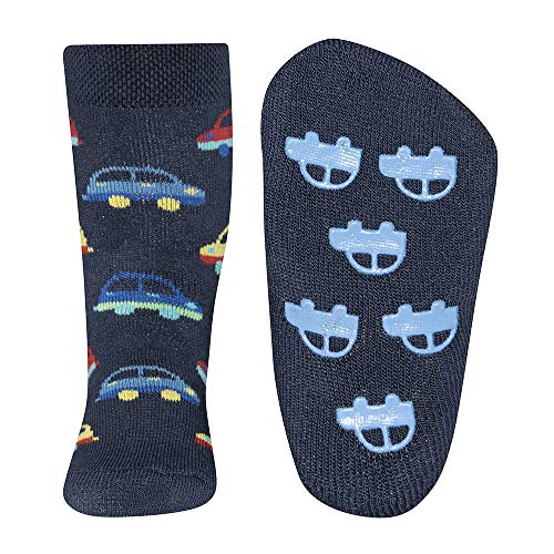 Ewers Chaussettes antidérapantes voitures chaussettes bébé chaussettes hautes, marine/multicolore