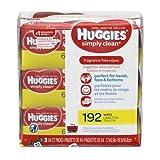 Huggies Simply Clean Wipes (Pack of 4)