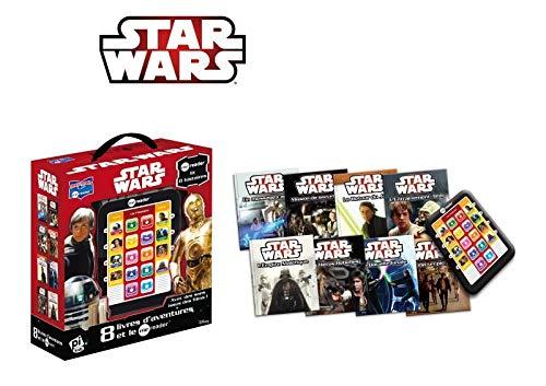 Coffret Star Wars: 8 livres d'aventures et le Me Reader : Un message caché ; Mission de sauvetage ; L'Entraînement Jedi ; C'est un piège ! ; Le Retour ... ; Les Héros Rebelles ; L'Empire Maléfique