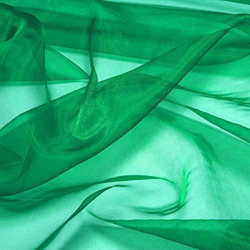 Fester Organza-Stoff für Hochzeitskleid, Mode, Basteln, Dekorationen, seidig glänzender Organza, 111,8 cm 30 Yard grün
