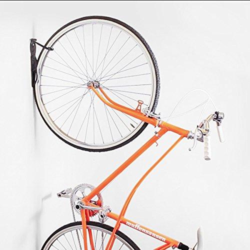 Relaxdays Fahrradhalterung 2er Set, Fahrrad Wandhalterung, Zum Aufhängen, schwarz - 3