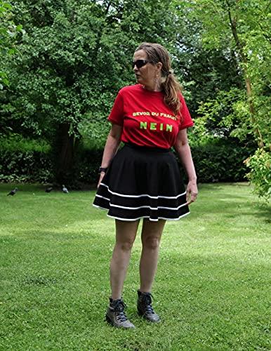 Bridesmay Falda Mujer Plisada Verano Corto Casual Mini Multifuncional De Poliéster Plegado Patinador para la Escuela, la Oficina, Las Fechas y Las Fiesta Black-White S