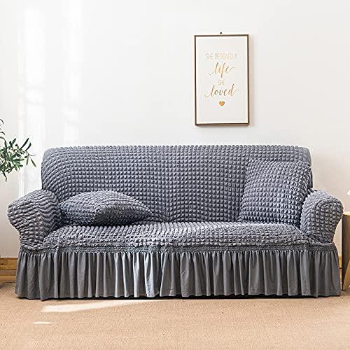 PPOS Funda de sofá Seersucker Sala de Estar, Falda de sofá, Antipolvo, Funda Suave única para sofá, Funda de sofá A5, sofá de Dos plazas 145-185cm-1pc