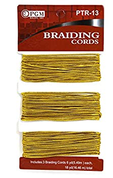 MayaBeauty PGM Hair Braiding Cords Gold 3 Pack
