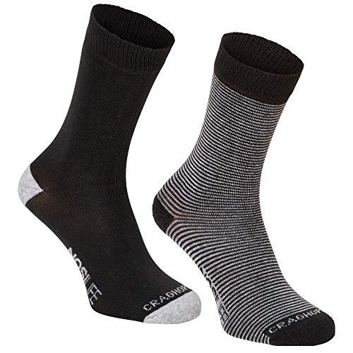 Craghoppers Noslife Twin 2er Pack Socken, charcoal-soft grey, EU 39-42