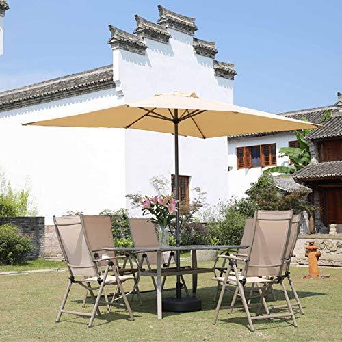 FACC Sombrillas Terraza 3x2m Parasoles Jardin Rectangular Sombrilla Playa Grande Paño De Poliéster Sombrilla Parasol Diseño con Manivela para Playa Jardín Patio Al Aire Libre