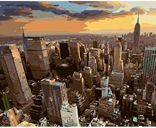 WFTD 1000 pcs Puzzle para Adultos Juegos Crepúsculo con Vistas a Nueva York niños decoración del Puzzle Game para