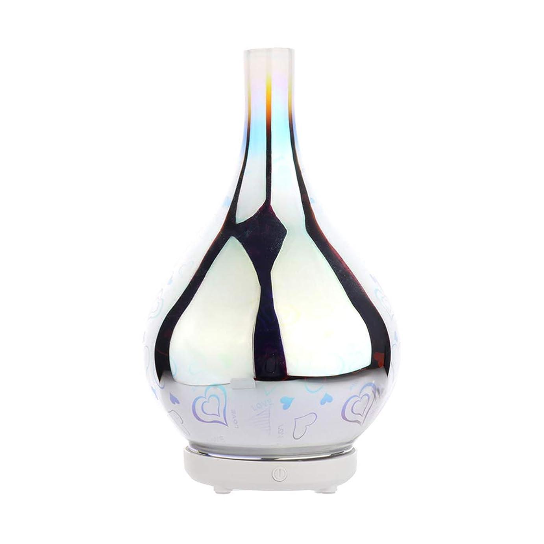 有益な極めて重要な刺すDC 二色 3Dガラス夜ライトアロマテラピーマシン 精油の拡散器 香りのアロマセラピー アロマセラピーディフューザー