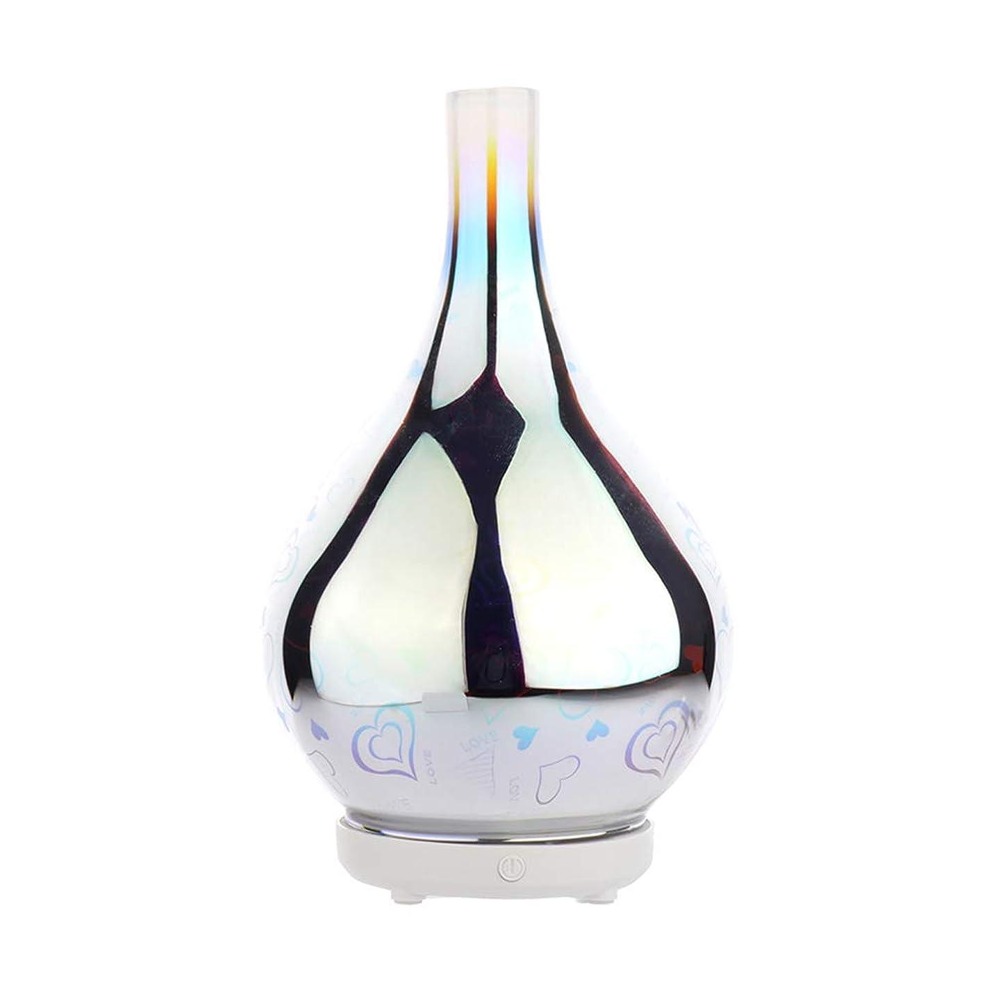 晩ごはんダッシュ冒険家DC 二色 3Dガラス夜ライトアロマテラピーマシン 精油の拡散器 香りのアロマセラピー アロマセラピーディフューザー