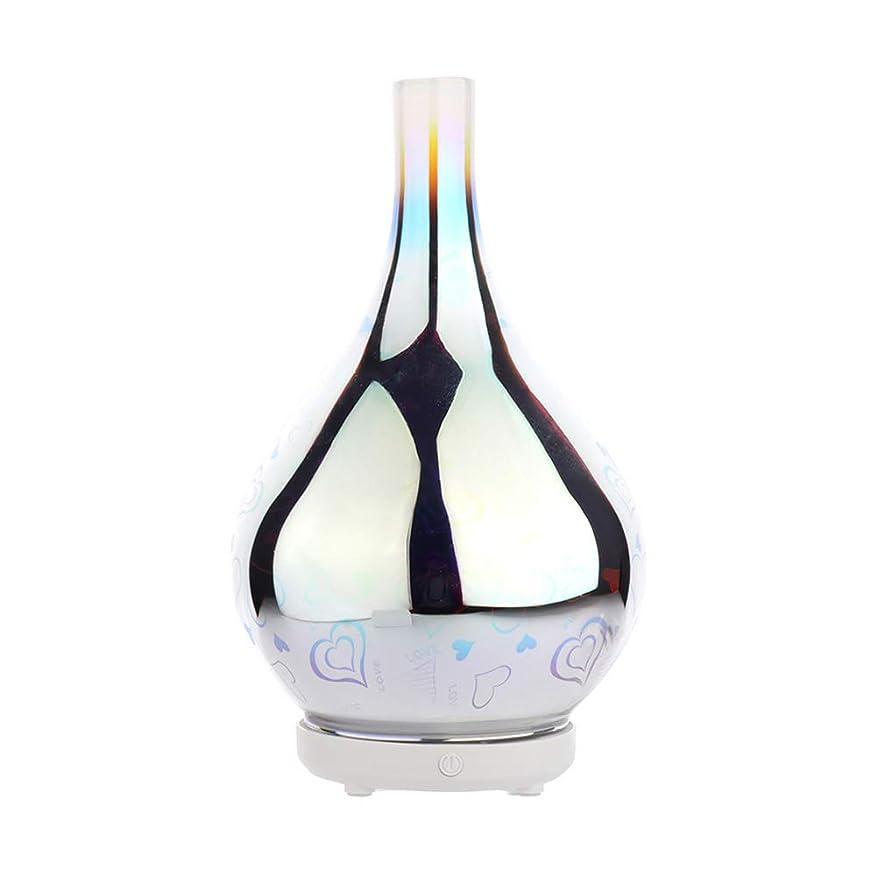 慰め口径リスクDC 二色 3Dガラス夜ライトアロマテラピーマシン 精油の拡散器 香りのアロマセラピー アロマセラピーディフューザー