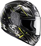 HJC 101674XXL - Casco de moto, negro/Amarillo Fluor, talla XXL