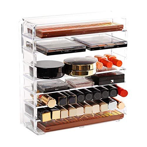 Makeup Organizer Palettenhalter 8 Tier Clear Acryl Kosmetik Aufbewahrungskoffer Ständer mit abnehmbarem Teiler für Lidschatten Blush Pressed Powder