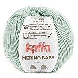 Lanas Katia Merino Baby Ovillo de Color aguamar Cod. 97