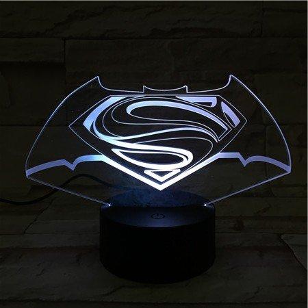 woloshop lampe LED DC Comics Logo Batman Superman Change Couleur USB lumière Nocturne