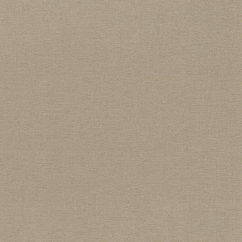 rasch Tapete 449815 aus der Kollektion Florentine II – Einfarbige Vliestapete in Braun – 10,05m x 53cm (L x B)