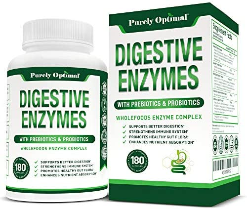 Premium Digestive Enzymes Plus Prebiotics Probiotics Digestive Enzyme Supplement for Better product image
