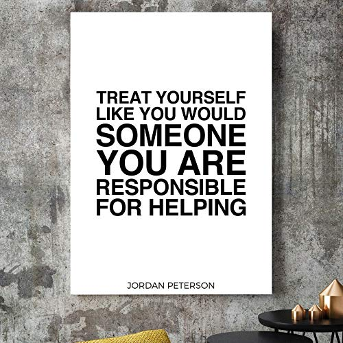 24.Decembre Jordan Peterson Quote Print - Rule 2. Treat Yourself Like You Would Someone You are Responsible for - 12 Rules for Life Poster Wall Art