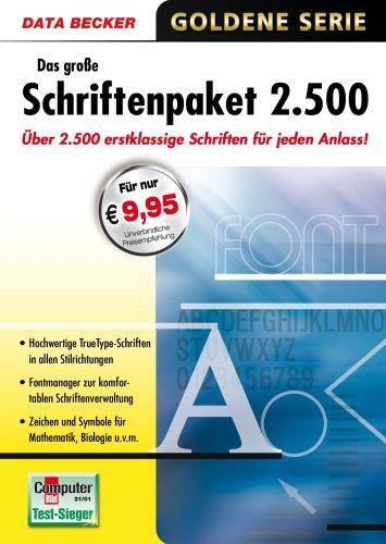Data Becker Das große Schriftenpaket 2500