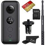 Insta360 One X 360 Appareil Photo avec Carte mémoire et Adaptateur de Montage pour GoPro Ecosystem, One X + Mount Adapter + Selfie Stick + 128GB