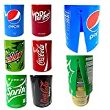 6 Pack Hide a Beer Can Cover – EZ on / EZ off Design - For Sporting Events, Going to the Beach, Outdoor Parties