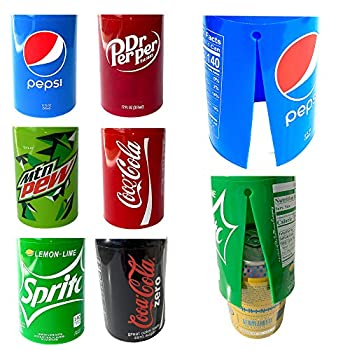 6 Pack Hide a Beer Can Cover – EZ on / EZ off Design - For Sporting Events Going to the Beach Outdoor Parties