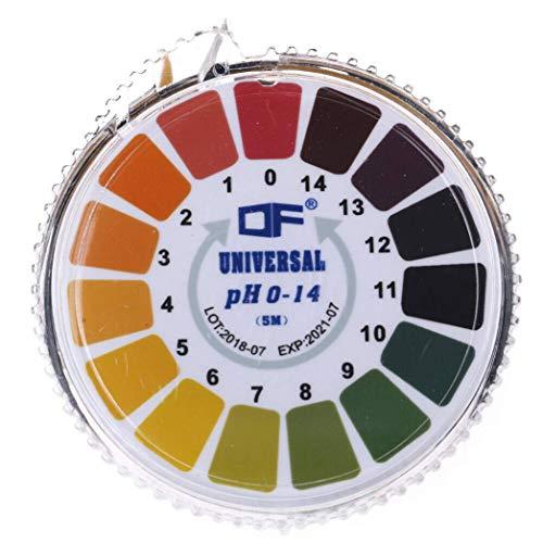 ph試験紙 ロールタイプ 5m リトマス紙 リトマス試験紙 PH測定 (pH0-14)