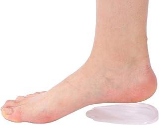 インソール かかと 半敷き 足底筋膜炎ケア O脚X脚矯正 踵衝撃分散パッド 透明インソール 痛み軽減 疲労低減 かかと補正パッド 男女兼用