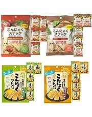 こんにゃくせんべい カルイット トマト・ごぼう・ゆず胡椒・生姜醤油 1袋15g(トマト・ごぼうは10g) 4種×6袋 合計24袋