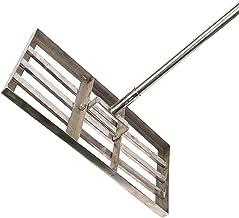 Gazon Leveling Hark, Bodem Leveler Tool Met Lange Steel Rvs Nivelleer Vuil Zand Grond Oppervlak Voor Yard Garden Golf Gazon