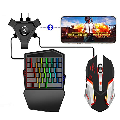 MongKok Gaming Keyboard Mouse Converter Set Mobile Gamepad Controller for Android IOS Phone