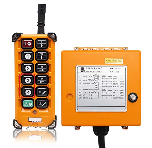 NEWTRY 12 Buttons Wireless Crane Remote Control 12V Industrial Channel Electric Lift Hoist Radio Switch Transmitter Receiver (+ DC12V Receiver)