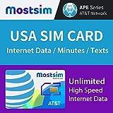 MOSTSIM - AT&T EE.UU. Tarjeta SIM 7 Días, Datos a...