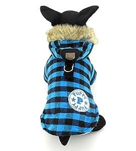 Manteau d'hiver pour Animal domestique Chat Chien Plaid style anglais en Coton XS, S, M, L, XL