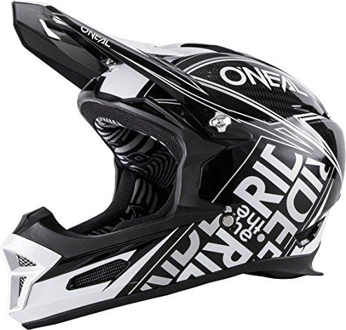 O'Neal Fury RL Helm Fuel Schwarz Weiß Fidlock DH FR MTB Downhill Fahrrad, 0499-51, Größe XL (61 - 62 cm)