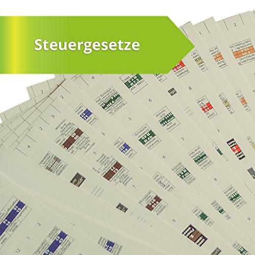 Steinfacher-Griffregister für STEUERGESETZE mit Abdruck von amtlichen Überschriften,653 bedruckte Aufkleber+113 Aufkleber zur Selbstbeschriftung (aktueller Rechtsstand), gleichermaßen für Beck und NWB