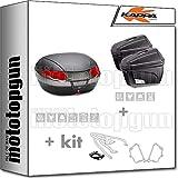 kappa maleta k56n + maletas laterales k22n + portaequipaje monokey + portamaletas lateral monokey compatible con triumph bonneville t100 2020 20