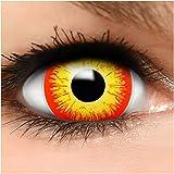 Farbige Maxi Sclera Kontaktlinsen Horror Clown - inkl. Behälter - Top Linsenfinder Markenqualität, 1Paar (2 Stück) -