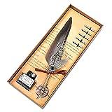 Juego de bolígrafos de plumas de talla vintage, con tinta de caligrafía antigua, 5 puntas de repuesto, juego de caligrafía G para regalo (color G