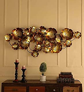 D&D Decor Wall Decor Multi Color Metal Contemporary Art with Led Lights
