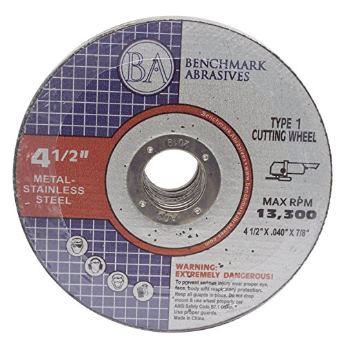 4.5'x.040'x7/8' Quality Thin CutOff Wheel Metal & Stainless Steel - 25 Pack