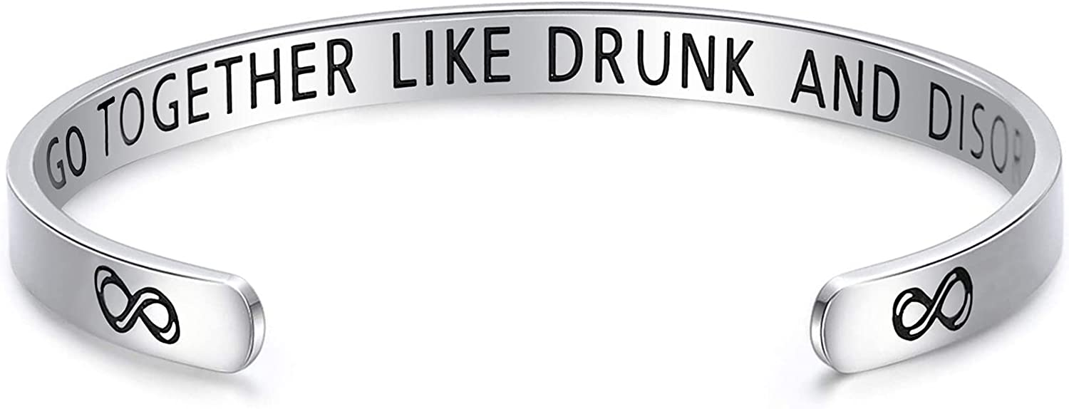 Funny Friendship Bracelets Gifts For Alcohol Lovers Friends Gag Gift Cute Cuff Bracelet For BFF Women Jewelry