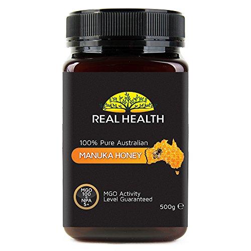 Real Health - 100% reiner australischer Manuka Honig - MGO 100 - 500g