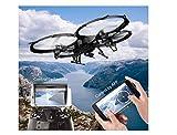 Drone U818A WiFi FPV – Drone con telecamera HD 720P | Drone con telecamera intelligente Quadcoptere modalità con batteria a lunga durata di volo Drone per i debutanti | Occhiali 3D in regalo