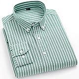 XJJZS Camisas de rayas para hombre de algodón puro Oxford Tela Escocesa de negocios Casual Hombre largo Hombre de  Camisa (Color : B, Size : 41 175CM 70KG)