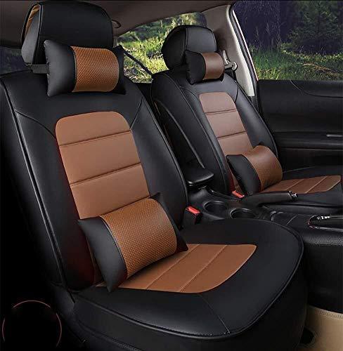 ZH~K Sitzbezügesets Auto-Sitzabdeckung Nonslip und atmungs Van Sitzbezüge Nur gepasst for abnehmbare Kopfstütze Autozubehör Innen Kompatibel Airbag warten (Color : Orange)