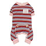 KYEESE Dogs Pajamas Striped Lightweight Dog Pjs Stretchable Onesie for Small Dogs Cat Pjs