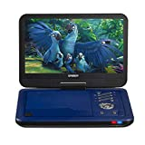 SYNAGY 12' Portable DVD Player with 10.1'' Swivel Screen Remote Control Rechargeable Battery Car Charger Wall Charger, Personal DVD Player (Blue)